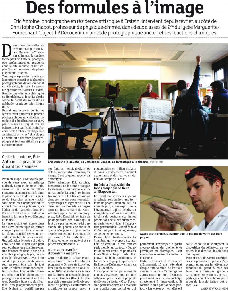 Éric Antoine photo Autoportraits de classe Erstein dnamars2013