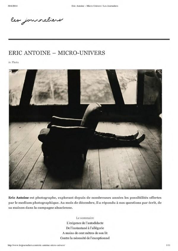 Éric Antoine photo Les journaliers ea2014-1